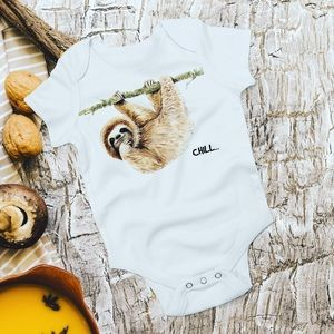 Sloth Baby Bodysuit